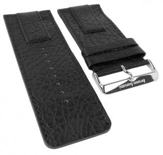 Bruno Banani Proteus Ersatzband schwarz genarbt Leder XP3 101 301 BR20819 BR20823 BR20821