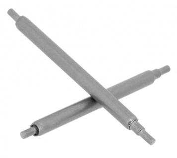 Minott Stifte 2x Uhrenstifte Federstege Teleskopstifte Ø1, 8mm x 19-20mm silbern passend zu RLX 34743