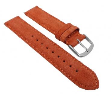 Herzog Uhrenarmband Sylt Veloursleder Band Orange 26770S