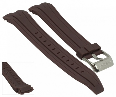 Ersatzband Uhrenarmband Kautschuk Band braun passend zu Festina F16670/1 F16670/alle F16505 - Vorschau 1