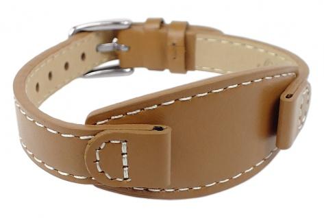 s.Oliver | Ersatzband 10mm aus Leder in beige mit Schließe silberfarben | SO-2929-LQ