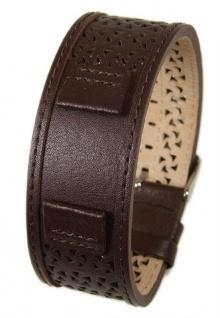 Uhrenarmband Leder Band Unterlageband 16mm dunkelbraun s.Oliver SO-2006-LQ