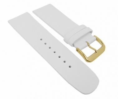 Minott Damen Uhrenarmband Leder Band Weiß 27107G