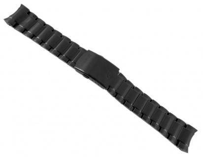 Casio Armband Uhrenarmband Edelstahl IP Schwarz für Edifice EFR-534BK EFR-534RBK