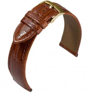 Uhrenarmband | aus echtem Teju Eidechsenleder | braun | 35393