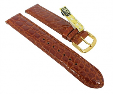 Graf Manufaktur Bahamas Damen Ersatzband echt Krokodil Leder braun 993.1.22 - 27570