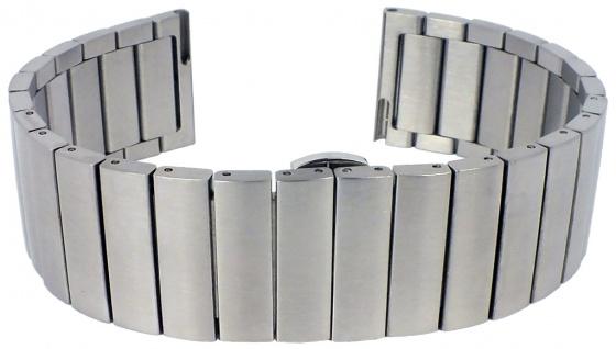Minott Uhrenarmband Edelstahl Band silbern matt massiv gleichlaufend
