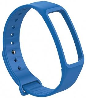 Atlanta Uhrenarmband Fitnessband blau Ersatzband Silikon weiches Band Smartwatchband