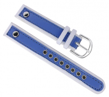 Adora Youngline AY4302 Kinder Ersatzband 14mm Materialmix weiß / blau Band
