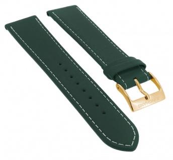 Junghans Driver Meister Automatic Ersatzband 20mm grün Uhrenarmband Leder mit Naht 027/7711