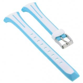 Calypso Sport Uhrenarmband Kunststoff Band in weiß mit Schließe silberfarben K5682/8