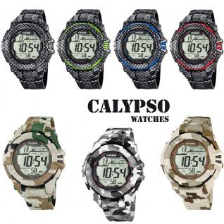 Calypso Herrenarmbanduhr Quarzuhr Kunststoffuhr mit Polyurethanband Alarm-Chronograph digital alle Modelle K5681
