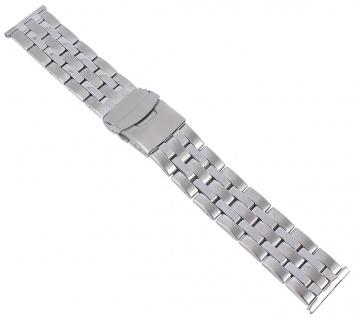 Minott Uhrenarmband Herren Edelstahl Band 24mm silberfarben 29759S