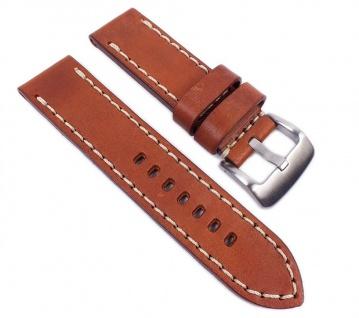 Aeronautica Vintage Uhrenarmband Fliegerband Optik Leder Hellbraun 26mm