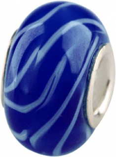 Charlot Borgen Marken Damen Bead Beads Drops Kristallglas Silberkern GPS-13Blau