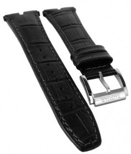 Jaguar Executive Chronograph Uhrenarmband Leder Band schwarz Kroko-Optik Naht J857/1 J857