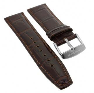 Bruno Banani Chronograph ? Ersatzband 21mm aus Leder in braun Kroko Optik ? 164225 CD1003