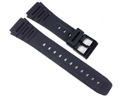 Uhrenarmband Kunststoff Band weich schwarz 20mm Minott 24084