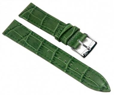 Morellato Bolle Alligator Calf hochwertiges Uhrenarmband Kalbsleder Band Grün 16mm 20152S