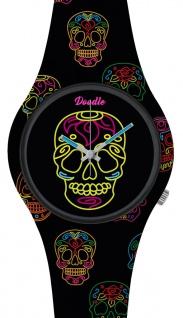 DOODLE WATCH :) Armbanduhr für SIE Ø 39mm | Silikon > Black Skull > DOCA004