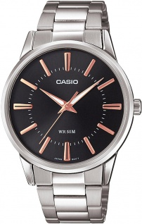 Casio Collection Analoguhr mit Edelstahlband in silbern MTP-1303PD-1A3VEF