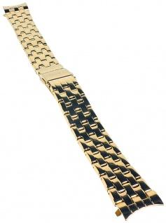 Timex Damen Uhrenarmband Ersatzband Edelstahl IP gelbgoldfarben 16mm für T2P388