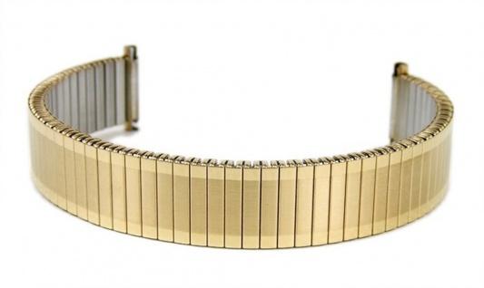 Minott Flexband Zugband Ersatzband Edelstahl IP Gelbgold 14mm - 16mm 18112G