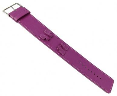 Bruno Banani ZENO für Damen Uhr, Unterlageband Leder Magenta glatt BR20988 BR20987 BR20989 BR20986