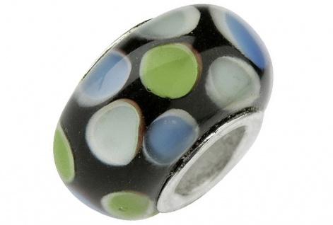 Charlot Borgen Marken Damen Bead Beads Drops Kristallglas Silberkern GPS-20Grün