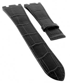 Jaguar Swiss Made Ersatzband Uhrenarmband Leder schwarz mit Krokoprägung für J666 J667 J670 J696