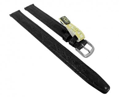 Graf Manufaktur Bahamas Damen XL Ersatzband echt Krokodil Leder schwarz 993.2.01 - 27581