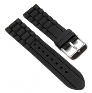 Minott Uhrenarmband Silikon Band schwarz 22mm 19646S