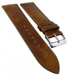 Herzog Ersatzband Uhrenarmband 18mm, 20mm, 22mm | Kalbsleder, crema-braun, Handmade in Italy 32217