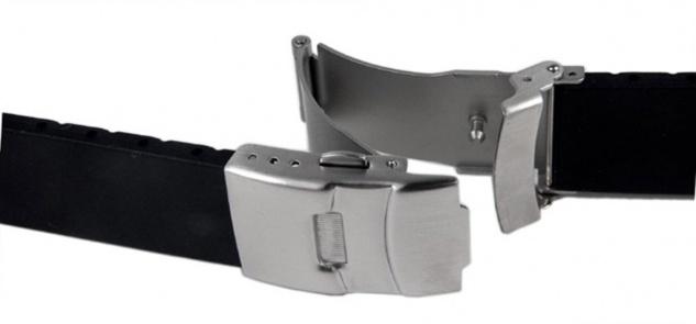 Minott Uhrenarmband Silikon Band 22mm schwarz 19911S - Vorschau 2