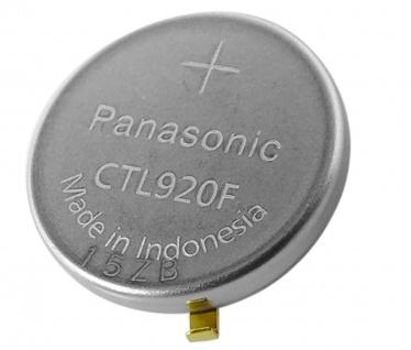 Panasonic Knopfzelle Akku Batterie CTL920F Lithium Ionen (LiIon) mit Fähnchen 34272