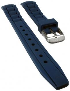 s.Oliver Uhrenarmband Silikon Band sehr weich 14mm petrolblau SO-2590-PQ