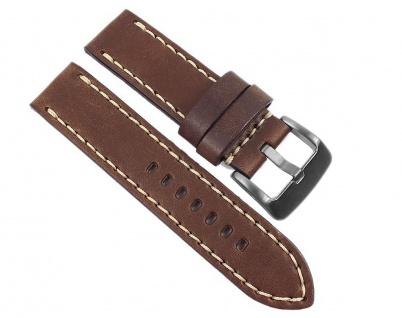Hunter Vintage Uhrenarmband Leder Braun Fliegerband Optik passend zu Panerai 22834