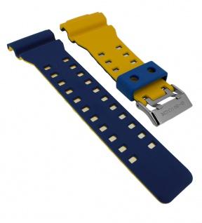 Casio Ersatzband G-Shock Resin blau / gelb GD-120NC-2 GD-120NC GD-120