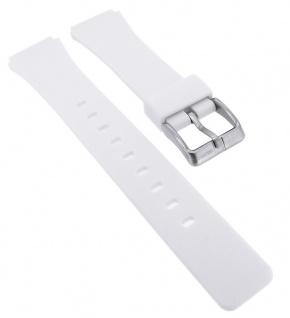 Calypso Ersatzband aus Silikon in weiß mit Schließe silberfarben Spezial Anstoß K5743/1