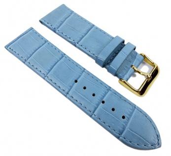 Big Fashion - Louis. Prägung Uhrenarmband Kalbsleder Band Blau 21927G