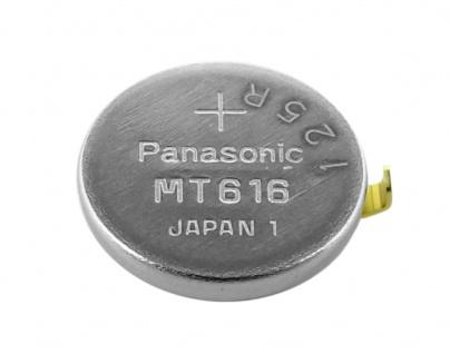 Panasonic Knopfzelle Akku / Batterie MT616 Lithium Ionen (LiIon) mit Fähnchen 32101