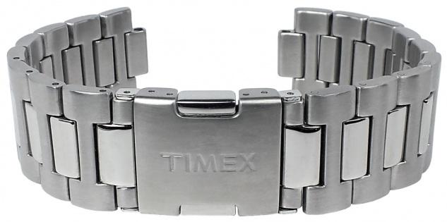 Timex Uhrenarmband Ersatzband Edelstahl silbern 20mm für T2N153 - Vorschau 2