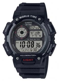 Casio Collection AE-1400WH-1AVEF digital Uhr mit Automatischer Kalender aus Resin schwarz