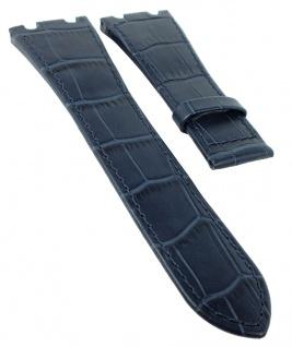 Jaguar Swiss Made Ersatzband Uhrenarmband Leder blau mit Krokoprägung für J666 J667 J670 J696