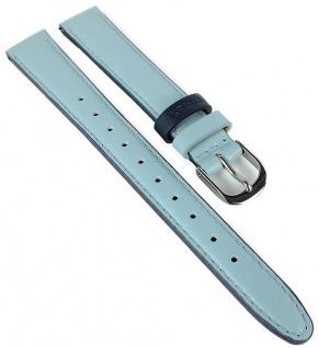 Timex Easy Reader Ersatzband 14mm blau Leder Naht TW2R62900 PW2R62900