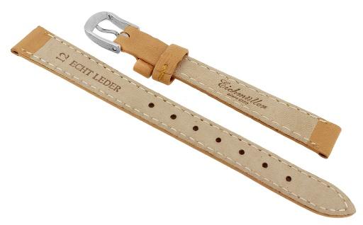 Uhrenarmband Ersatzband Leder Band Hellbraun 26554S