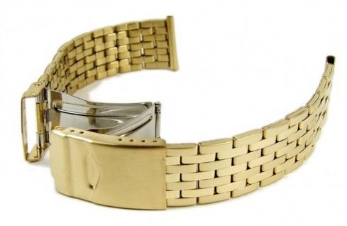 Uhrenarmband Edelstahl Band IP Gelbgold 18mm - 20mm