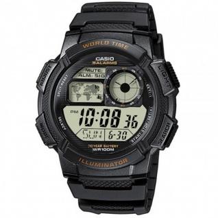 Casio Collection Herrenuhr Armbanduhr Resin Uhr Digitaluhr schwarz AE-1000W-1AVEF