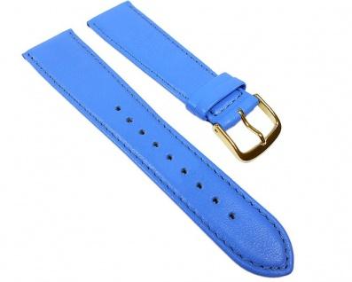 Miami Uhrenarmband Kalbnappa Band Blau / Himmelblau 22577G