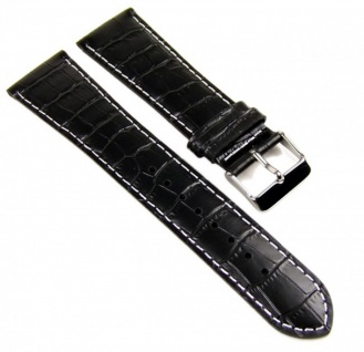 Casio Uhrenarmband Leder Band schwarz 24mm MTP-1341L-7 MTP-1341L-1